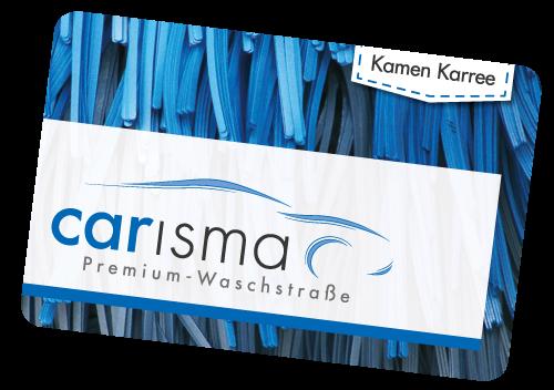 Die Gutschein Karte für die Waschanlage in Unna, Lünen, Bönnen und Bergkamen (Kamen Karree)